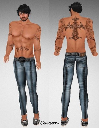 MHOH4 # 40 - .NOSOTR@S. designs Justice Tattoo and Zipper Jeans