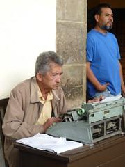 Auftrags-Schreiber verfasste einen Brief, Mexiko City