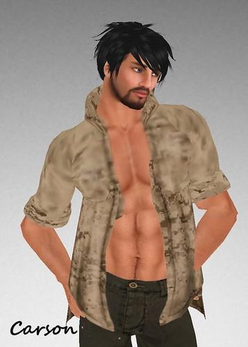 MHOH4 # 78 - Brocade Tiger, Men's Clothing Desert Camo Shirt
