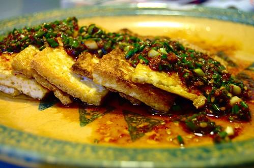 seasoned fried tofu