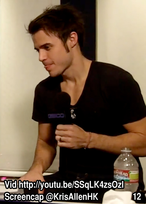 Kris Allen Billy Bush Show interview screen cap chest arms biceps sexy tee t-shirt pictures 12