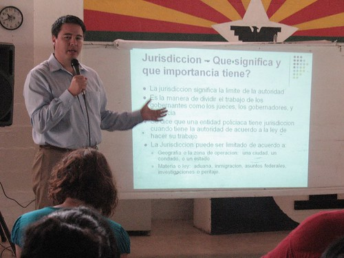 Celestino gives know your rights training