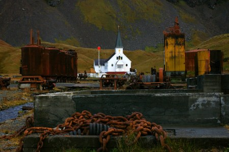 Iglesia tradicional en la Antártida