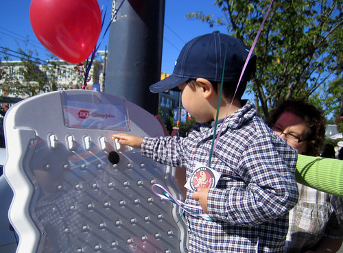 young plinko player