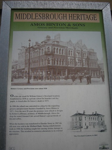 Amos Hinton Plaque, Middlesbrough