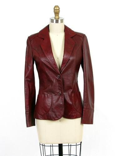 70's boho leather jacket