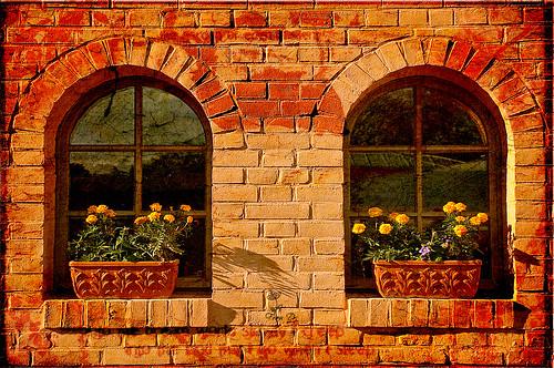Fenster in der Herbstsonne