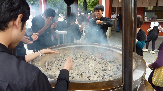 Senso-ji: incense closeup