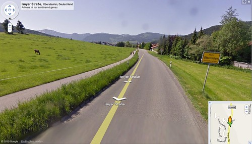 Oberstaufen, erster deutscher Ort in Streetview