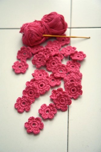 pink flowery scarf for aina