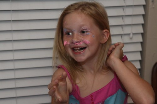 cake in the face