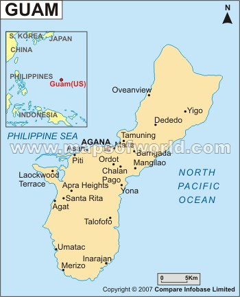 World Map Showing Guam Pictures to Pin on Pinterest