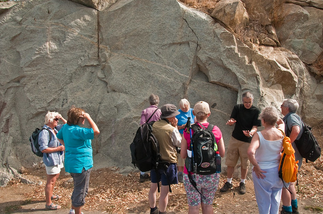 Doug explains the subtleties of a granite outcrop