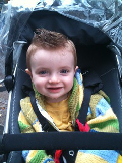Adam's first haircut at 15 months