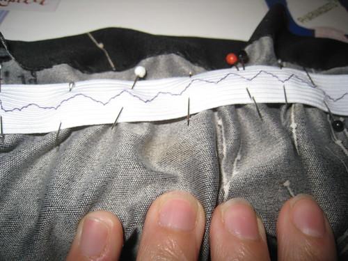 ruching stitched
