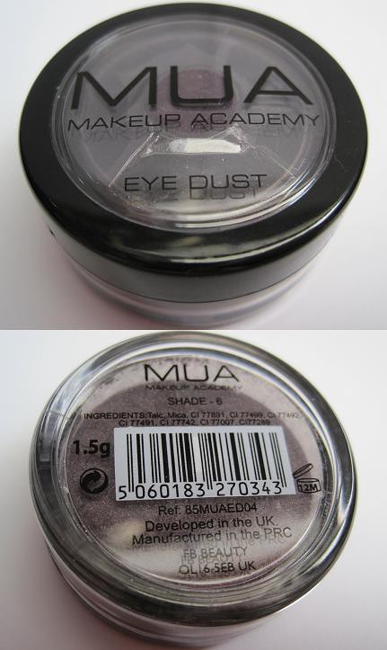 MUA Eye Dust Shade 6-1