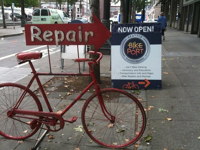 commuter hub and repair shop