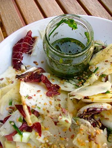 insalata amara con olio alle erbe1