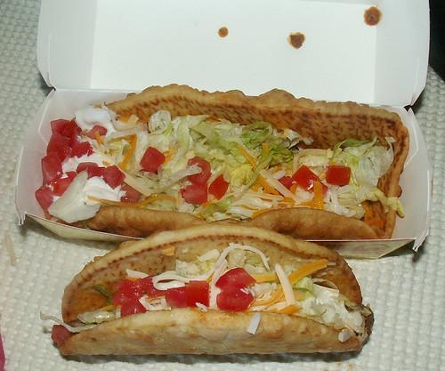 Taco Bell XXL Chalupa Original Chalupa Comparison