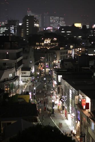 Nightime view of Harajuku