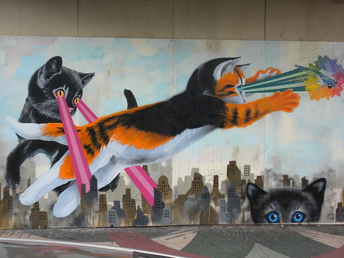 Laser Cats Mural by DoNotLick, on Flickr
