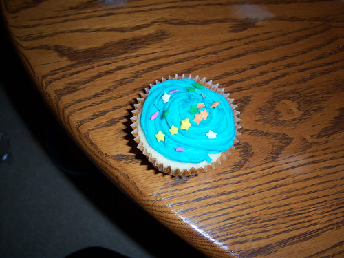 Jorden's Colourful Birthday Cupcake