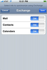 iPhone: Enable sync of Mail, Contacts, Calendar