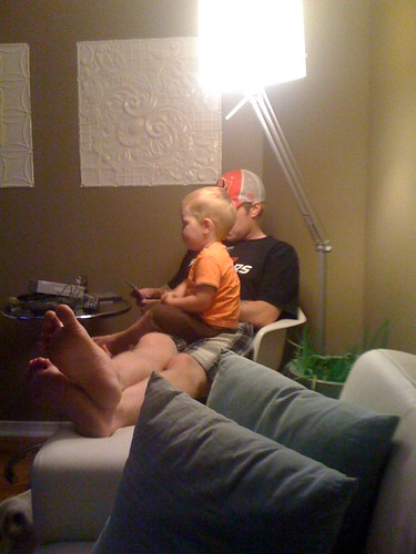 Playing Super Mario with Daddy