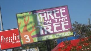 three on the tree - signage