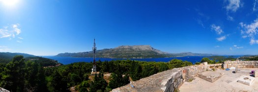 Korcula Panorama from the top of Fort Wellington