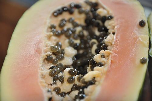 Offene Papaya