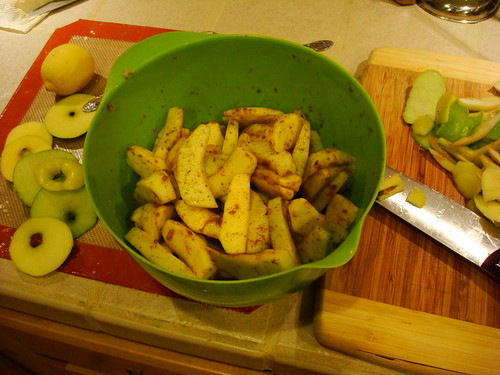 apple mixture ready to go