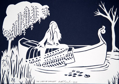 Paper Cutting: Lady of Shallott