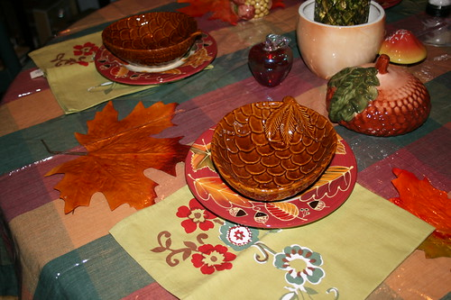 Autumnal Decorated Dining Table