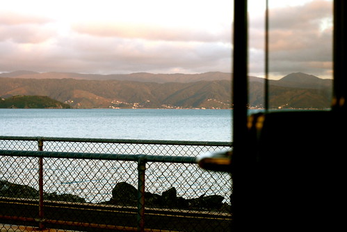 Wednesday: Late at work, train at dusk.