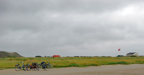 Bicicletas delante del banco de Galgerev