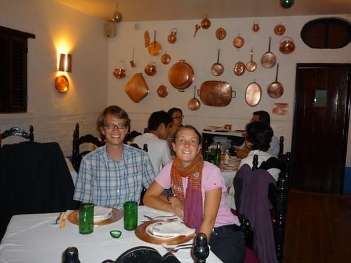 Friedrich und Sarah im Restaurant ¨El Refugio¨