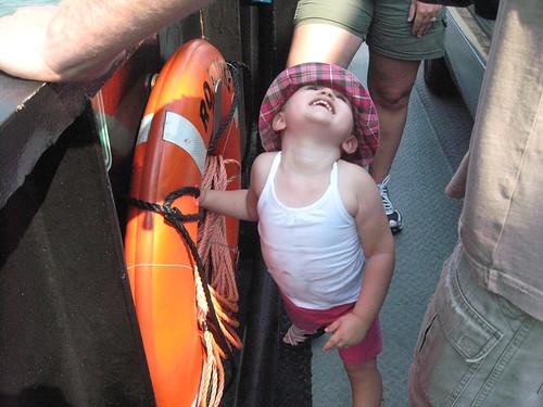on the Okracoke ferry
