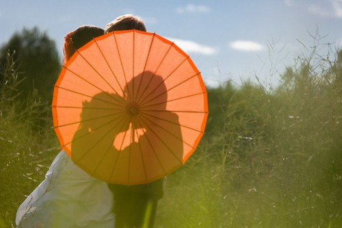 Parasol in the field