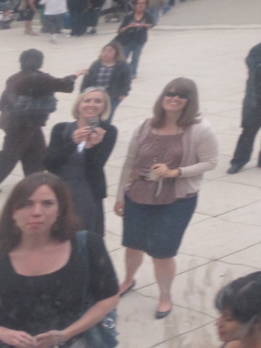 Us looking into the Bean