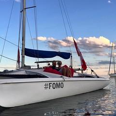 Look what Instagram has done! #sailors #couples #torontoharbour #instagram #fomo #aspirational #boating #sailingaway #chillinginstyle