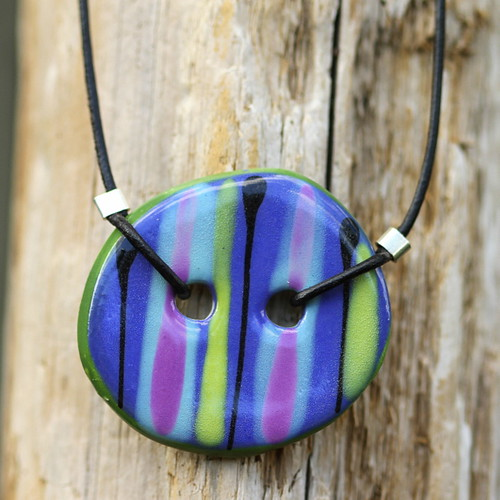 bright striped pendant