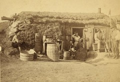 (animated stereo) A 19th Century Sod House in ...