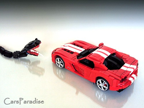Dodge Viper SRT10 LEGO rear top