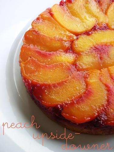 summery peach upside-downer