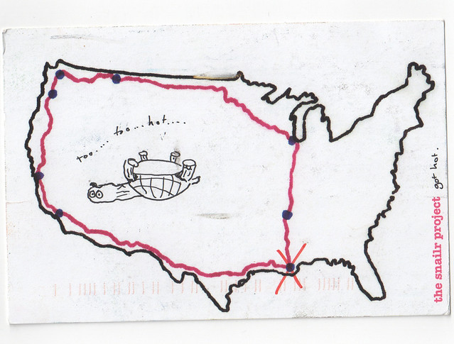 Snailr project postcard