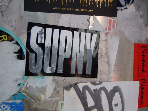 SUPNY sticker in Noho