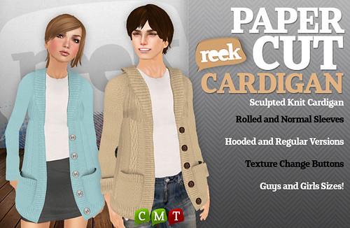 Reek - Papercut Cardigan Ad