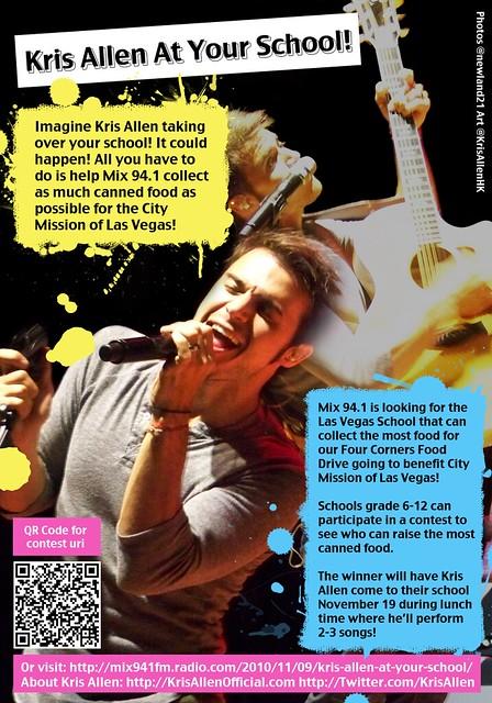 Mix 94.1 Kris Allen At Your School Contest