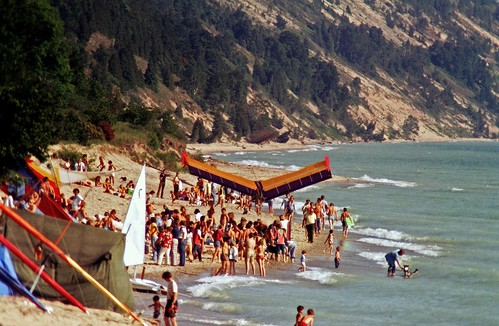 Elberta Beach During the Hang Gliding Heydays